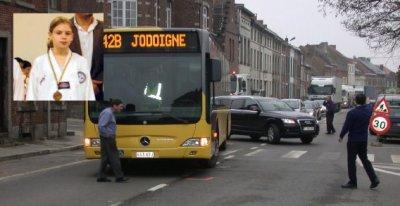 17-03-2011 - Belgique - Jodoigne - Grave Accident du car des TEC, il écrase une jeune étudiante le jour de ses 14 ans - 17-03-2011.
