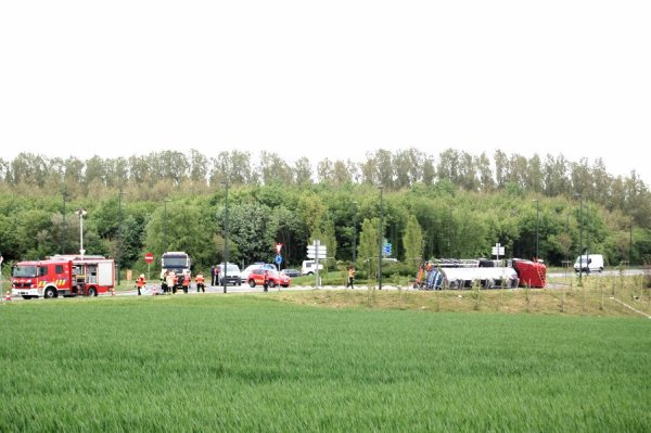 Belgique - Assistance Accident sur route - Fockedey  - Accident Camion - Transport - Leuze