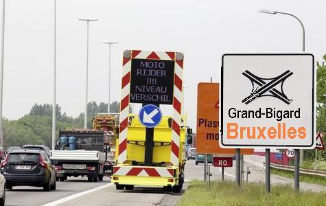Belgique - Danger au Travail - les dépanneurs sur routes et ponts, ils tentent souvent l'impossible pour nous aider - Merci à ces hommes qui risquent leur vie comme les pompiers et sauveteurs.