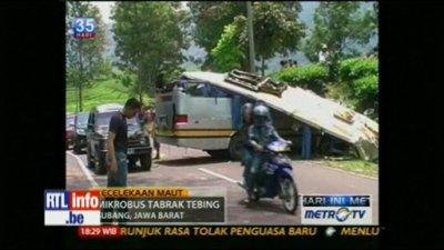 07-10-2011 - Indonésie - Des Belges parmi les passagers d'un accident de bus en Indonésie - Touristes Belges dans un accident autocar