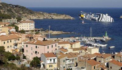 13-01-2012 - Costa-Concordia - Naufrage - Paquebot - Île de Gioglou - Rome - Toscane - Italie