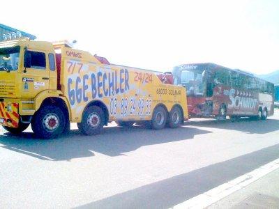 Autocars - Dépannage Assistance Bechler sur route Autocars Autobus - Colmar