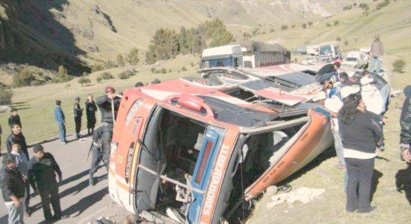 02-12-2010 - 16-11-2011 - Pérou -  Accident Grave - Touristes belges accidentés - 1 belge parmi les 7 victimes - L' Autocar tombe dans un ravin 200m. plus bas - 15 morts - Pérou.