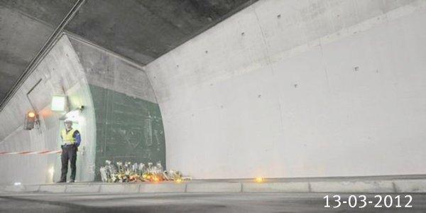 13-03-2012 - Accident autocar - Le Tunnel de Sierre - 28 victimes dont 22 enfants de Héverlée et Lommel. Les enquêteurs Suisses à l'agence de l'autocariste TopTours à Aerschot. Sécurité des autocars - Les obstacles verticaux sur les routes engendrent que des accidents Graves