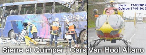 13 et 17 /03/2012  - Enquêtes - Accidents d' autocars - Belgique - France - Suisse - FBAA - Enquête chez l' autocariste - VanHool Autocars - Bruit suspect avant l'accident du car de chez Salaün.