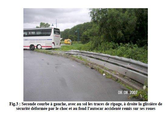 08-08-2007 - France - Dunkerque - Un autocar polonais de Polonia Transport venant de la Belgique culbute sur l'autoroute A16, aire des Moëres près de la Belgique à Ghyvelde (59)  -  3 morts & 25 blessés.