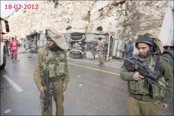 17-02-2012 - Accident grave d'un autocar à Jérusalem - 7 enfants tués dans ce car.