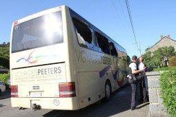 25-05-2012 - Belgique - Viroinval - Treignes - Autocars Peeters de Hannut - Accident voyage scolaire à Viroinval - 9 enfants hospitalisés à Mont-Godinne UCL, Dinant et Chimay.