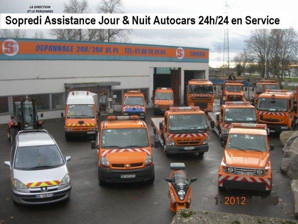 13-06-2012 - France - Strasbourg - Autocar Allemand - Autocar Renault en feu sur l'autoroute A35  Roeschwoog - Services Assistance Sopredi à Strasbourg.