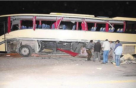 14-08-2012 - Casablanca - 21 blessés dans un accident entre deux autocars.