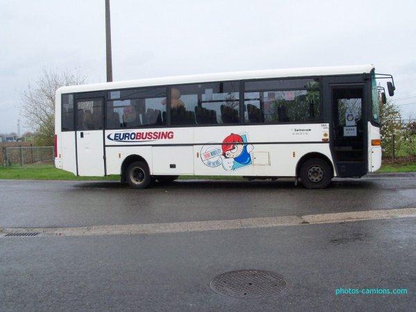 16-08-2012 - Belgique - Theux - Un autocar allemand avec 50 passagers sort de la route en revenant de Banneux.