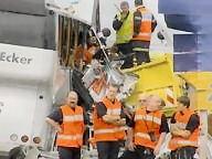 04-06-2007 - France - Un autocar des voyages Ecker à Steinsel (Luxembourg) percute un camion sur l'aut A4 Metz Paris à Thillois près de Reims, 2 morts et 15 blessés