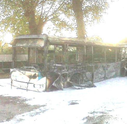 28-10-2012 - Le véhicule, propriété de la société Véolia -  il a été établi qu'une défaillance sur le programmateur de chauffage était à l'origine de l'accident.