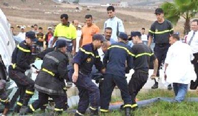 2012 - Maroc -  NOUVEAU DRAME DE LA ROUTE Accident d'autocar à Larache 8 morts et 38 blessés dont 20 en état grave