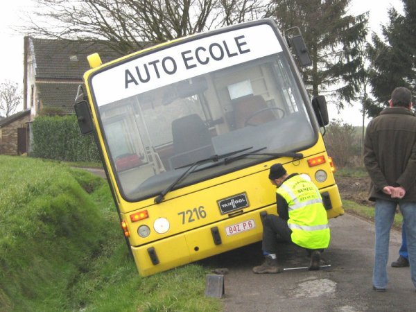 Permis de conduire Belge - Test pour permis de conduire -TEC - Chauffeur de Bus - Aptitudes de conduite et maîtrise.