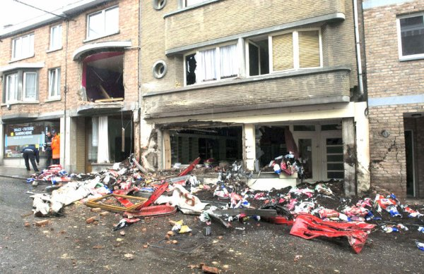 07-05-2013 - Belgique - Spa - Deux morts dans l'accident d'un camion à Spa