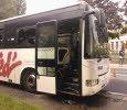 21-06-2013 - France - MAXÉVILLE - UN BUS SCOLAIRE PREND FEU DEVANT UNE ÉCOLE
