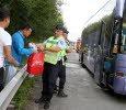 30-07-2013 - France - Montbéliard - Un autocar Italien transportant des touristes Chinois prend feu au niveau des freins sur l' A36.