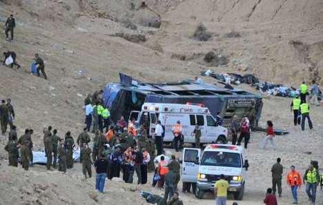 16-12-2008 - Israel - Vingt-quatre morts dans l'accident d'un car de tourisme en Israël