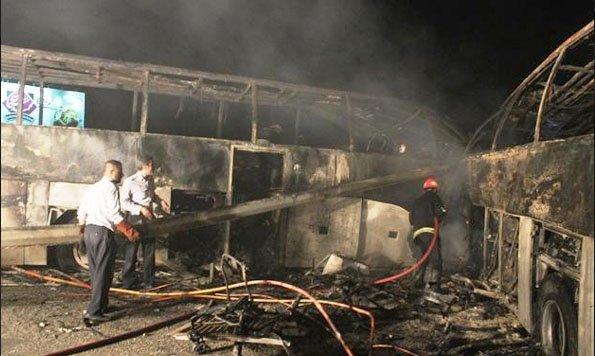 09-09-2013 - Iran - Accident entre deux autocars Scania - bilan: 62 morts