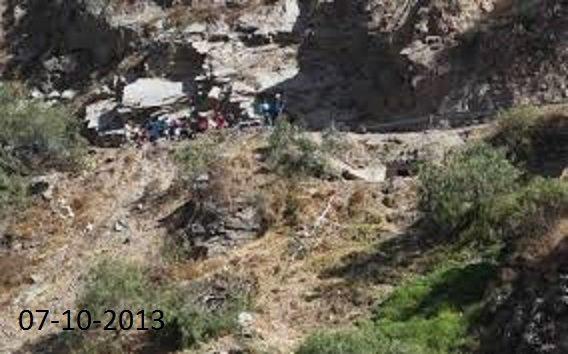 06-10-2013 - Pérou - Un autocar est tombé dans un précipice au Pérou, faisant au moins 19 morts et 15 blessés