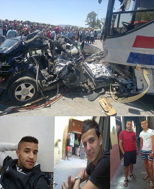 10-07-2013 - Tanger - accident autocar voiture - Drame de la route 4 morts tragiques dans un accident à Tanja Balia.
