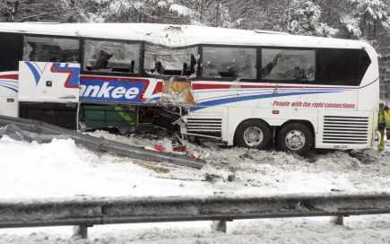 20-02-2009 - L'autobus des River Rats d'Albany a été impliqué dans un violent accident, dans la nuit de mercredi à jeudi. L'ancien des Saguenéens, Nicolas Blanchard, a subi de graves blessures à l'abdomen.