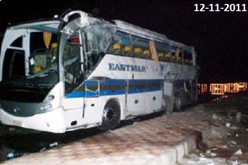 12-11-2011 - Hongrie -   Chauffeur de bus de la Société de Voyages EASTMAR égyptien qui a transporté les touristes hongrois de l'hôtel à l'aéroport de Hurghada, n'avait pas le droit de gérer le bus touristique.