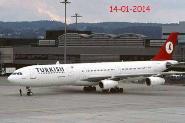 13-01-2014 - Casablanca - Alerte à la bombe :Un avion de Turkish Airlines atterrit d'urgence à Casablanca
