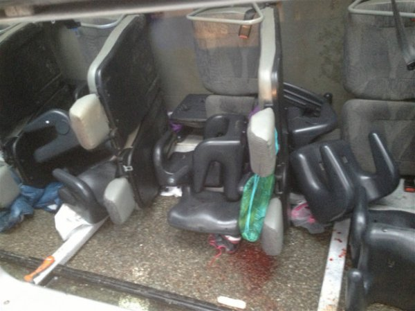 28-01-2014 - Eure - Perte contrôle du véhicule - Eure : Huit blessés, dont six enfants, dans un accident de car scolaire cet après-midi