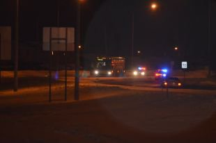 07-02-2014 - Victoriaville - Grave accident d'autocar - Un jeune homme a été happé par l'autocar sur le boulevard Pierre-Roux entre les rues Vézina et de l'Aqueduc.