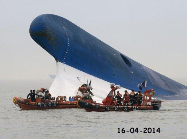 16-04-2014 - Corée du Sud - Grave accident du Ferry Sewol en Corée - 300 disparus dans le naufrage d'un ferry -  le ferry Sewol a sombré au bord de la côte sud-ouest de la Corée