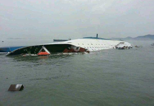11-11-2014  - Naufrage d'un ferry en Corée du Sud le 16 avril 2014 avec à son bord 462 personnes qui fait plus de 300 morts: le capitaine condamné à 36 ans de prison
