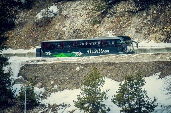 10-03-2015 Belgique - France - Flandre - Un autocar Belge parti de chez Heidebloem à Lanaken (Flandre) fait un détour de 1.200 km en France. Les vacanciers sont arrivés à destination avec 24 heures de retard.