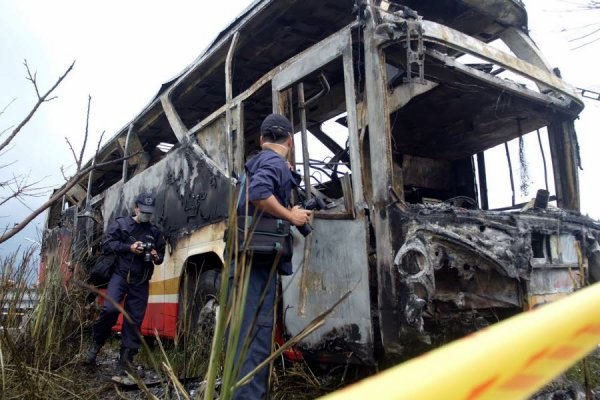 19-07-2016 - Taïwan - 26 morts dans l'accident d'un bus touristique, 26 personnes sont mortes dans l'accident d'un autocar qui transportait des touristes chinois près de la capitale taïwanaise.
