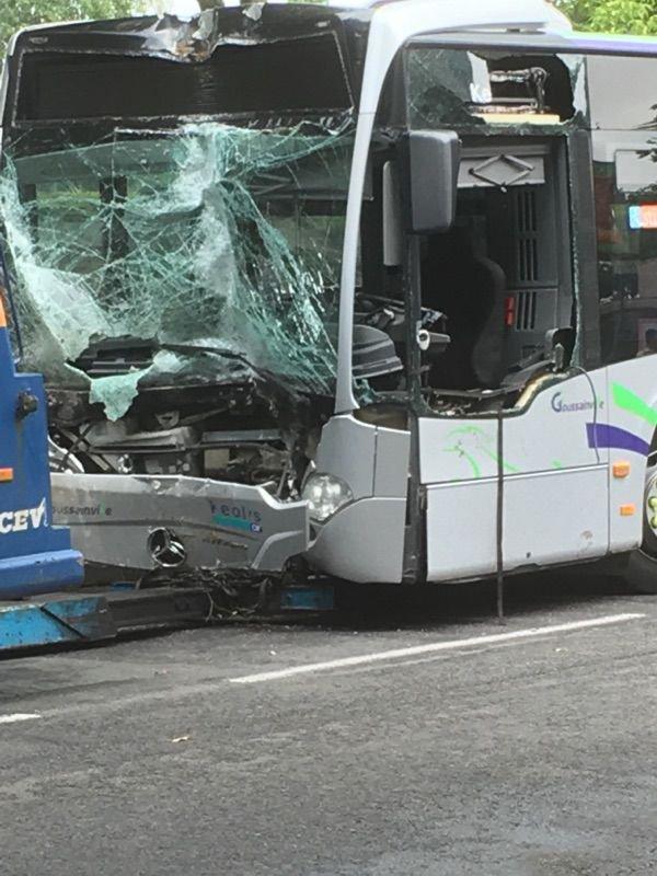 25-07-2017 - Val-d'Oise - 28 blessés dans un accident de bus à Goussainville