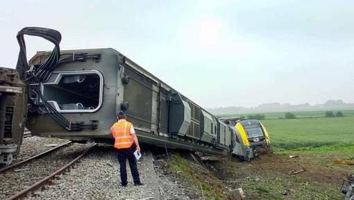 2019-01-02 - 2018-06-11 - Neufvilles - SNCB - Déraillement d'un train à vide à Neufvilles, la conductrice a été emmenée à l'hôpital (vidéo)