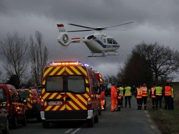 25-01-2019 - Gers - Un accident entre un bus scolaire et une voiture fait 7 blessés graves