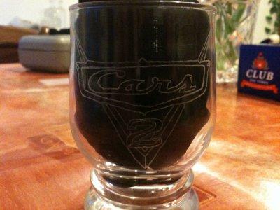le verre cars premier gravure
