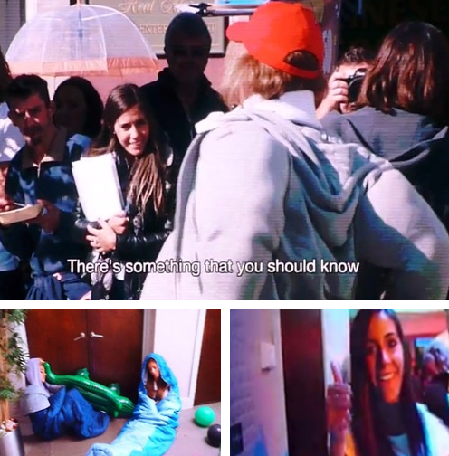 (24.02) A Londres: Baby Lux / Cadeau d'Harry pour Tom Atkin ;p / Hatchi / Amy Green dans la vidéo d'ouverture du TMH Tour / Photomaton de Louis, Niall & Luke / Harry, Josh & Niall avec des Fans / Menu 1D / Paul ♥