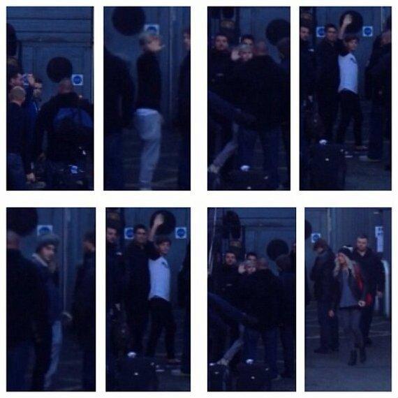(26.02) Les Gars arrivant à Glasgow (Ecosse) & Liam, Louis, Niall, Zayn & Lou devant la salle de concert (SECC) ♥