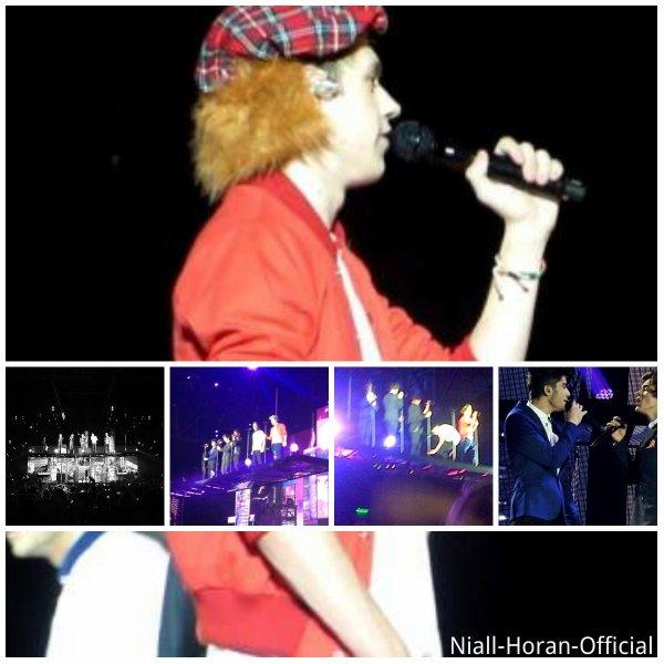 (27.02) A Glasgow: Harry avec des Fans devant leur hôtel / Au concert, Tenue 1 & 2, Niall avec un chapeau écossais & Ziall ;p ♥