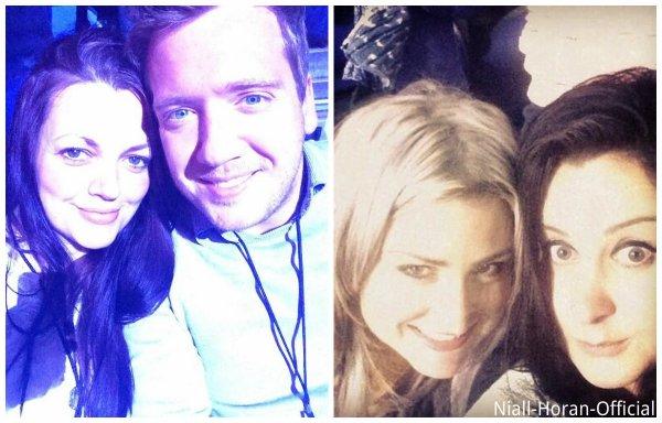 (04.04) Gifs du concert / (05.04) Niall & Bressie / Danielle, Perrie, Jawaad, Jay & Sam Teasdale au concert à l'O2 Arena, Londres ♥