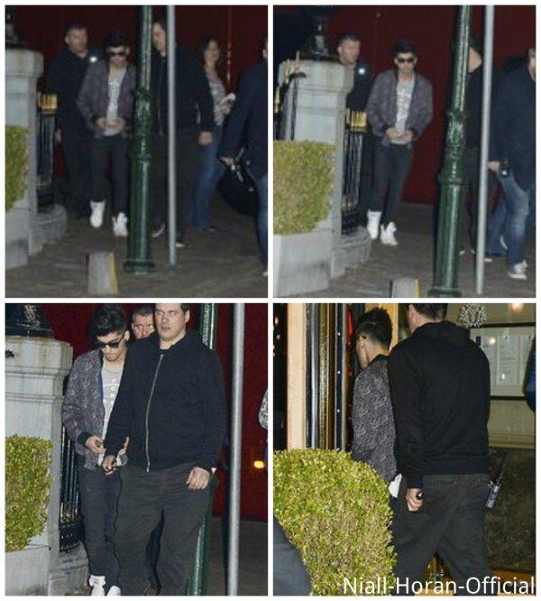 (01.05) A Anvers, Niall se concentrant avant le concert / Harry mangeant du poulet après le concert / Photo du concert à Anvers sur l'Instagram d'Harry / Zayn rentrant à l'hôtel ♥