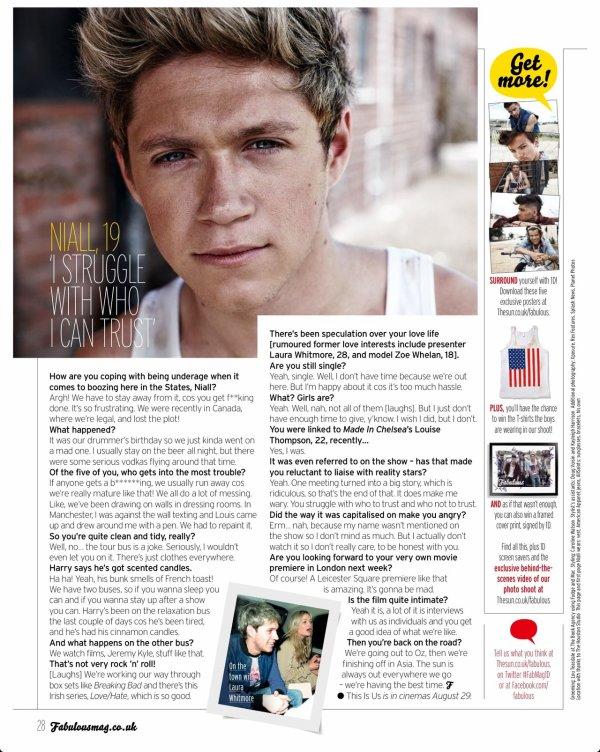 Photoshoot pour Fabulous magazine (+ interviews) ♥