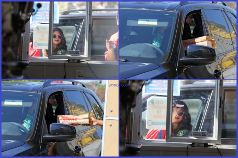 08/08/13: Selly' se rendant au SONIC DRIVE-THRU a Los Angeles.