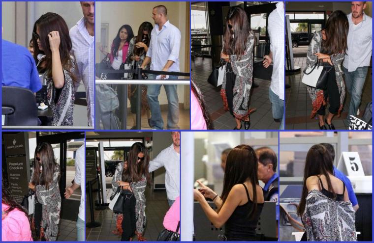 12/08/13: Selly' aperçue a l'aéroport de LAX, pour se rendre a Vancouvert.
