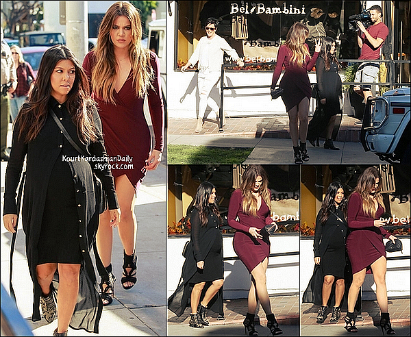 . 06/11/2014 : Ensuite, Kourtney, Khloé & Kris sont allées au magasin Bel Bambini dans le West Hollywood. Kourtney porte des bottines Chloé & un sac Chanel. .