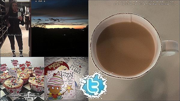 . Du 25/01/2015 au o2/o2/2o15 : Kourtney a posté des photos sur Twitter. .