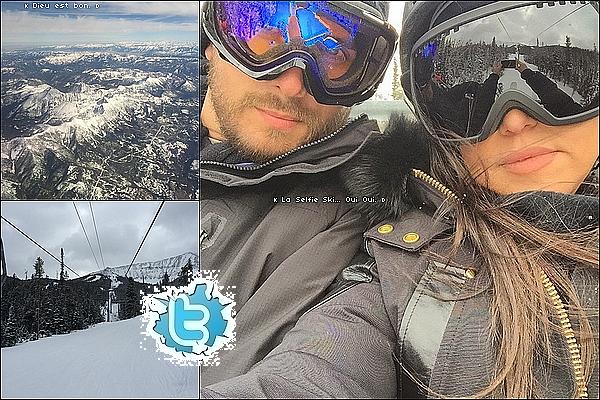 . 2o/o2/2o15 : Kourtney, Scott & ses s½urs Kim, Khloé & Kylie « sont allées faire du ski »  - Montana.  .